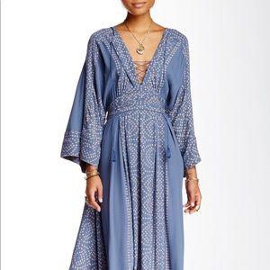 NWT Free People Modern Kimono Maxi Dress